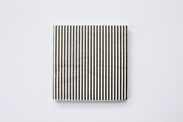 Black Stripe Paper Napkins - Pop Roc Parties