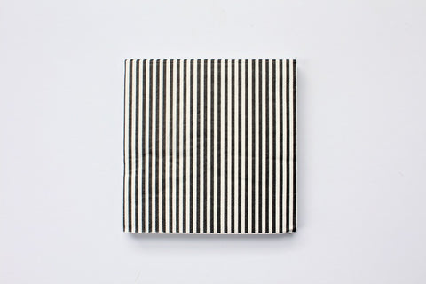 Black Stripe Paper Napkins