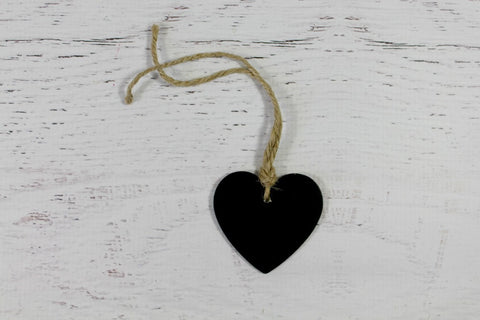 Mini Blackboard Heart Tags