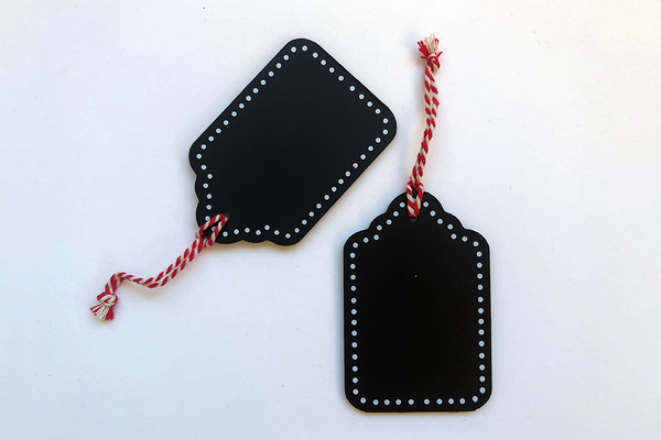Blackboard Scallop Edge Hanging Tags | Pop Roc Parties