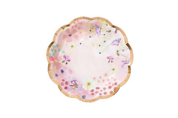 Blossom Girls Floral Plates | Pop Roc Parties