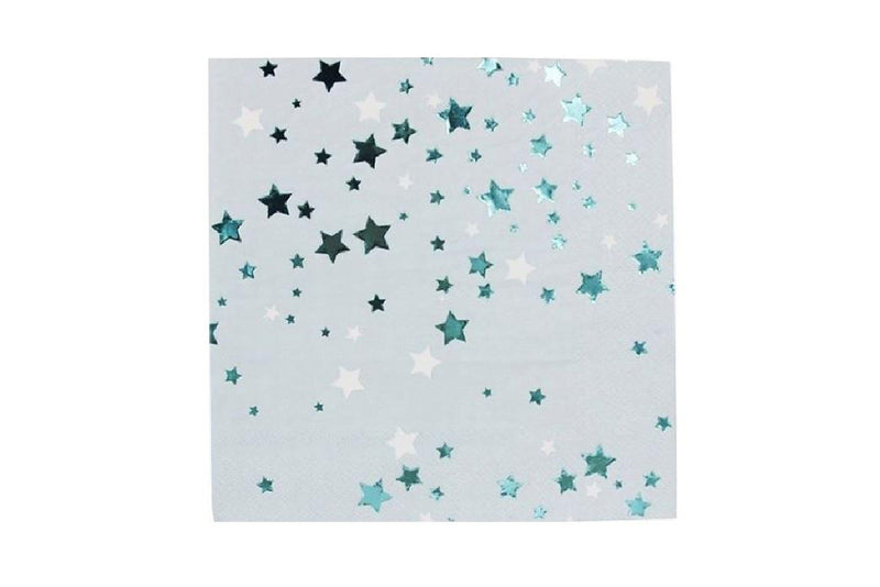 Blue Metallic Stars Napkins | Pop Roc Parties