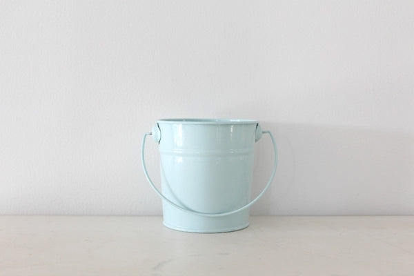 Mini Baby Blue Steel Buckets - Pop Roc Parties