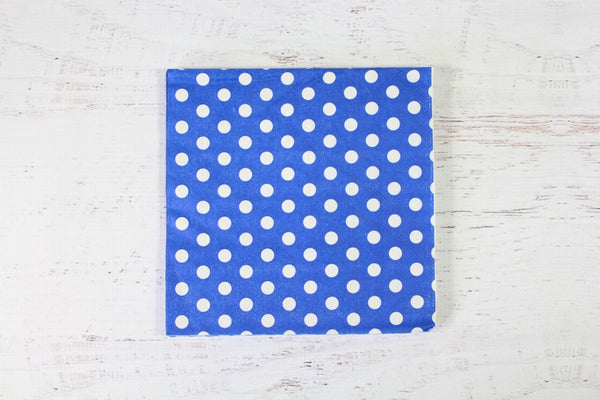 Blue Polka Dot Napkins - Pop Roc Parties