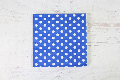 Blue Polka Dot Napkins