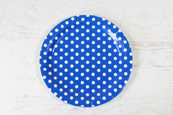 Blue Polka Dot Paper Plates | Pop Roc Parties