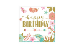 Boho Birthday Girl Napkins | Pop Roc Parties