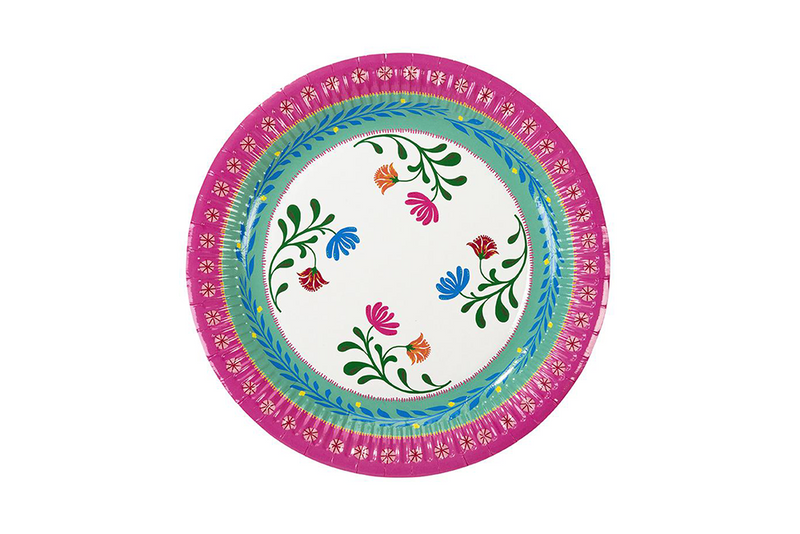 Boho Floral Party Plates | Pop Roc Parties