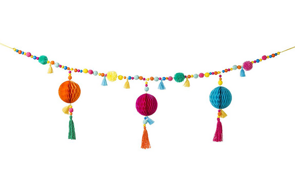 Boho Pom Pom Garland | Pop Roc Parties