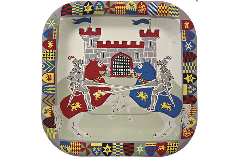Brave Knights Party Plates - Pop Roc Parties
