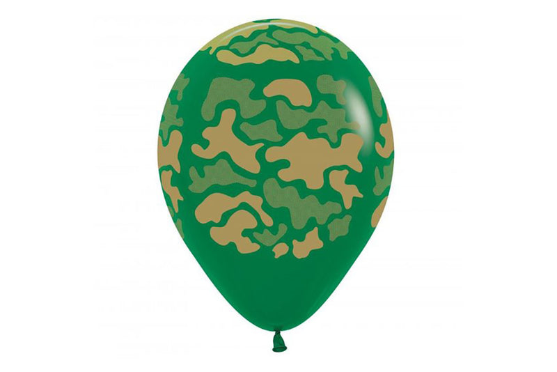 Green Camo Balloon | Pop Roc Parties