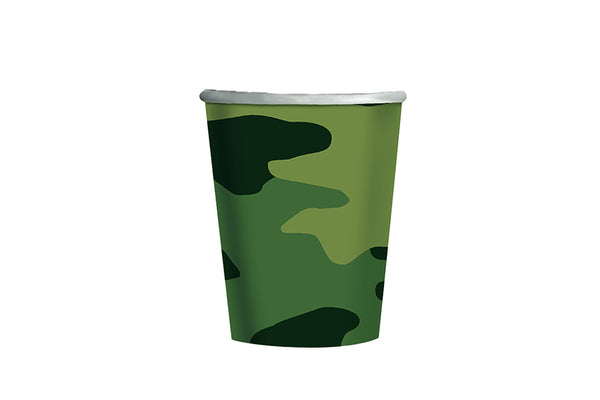 Camo Paper Cups | Pop Roc Parties