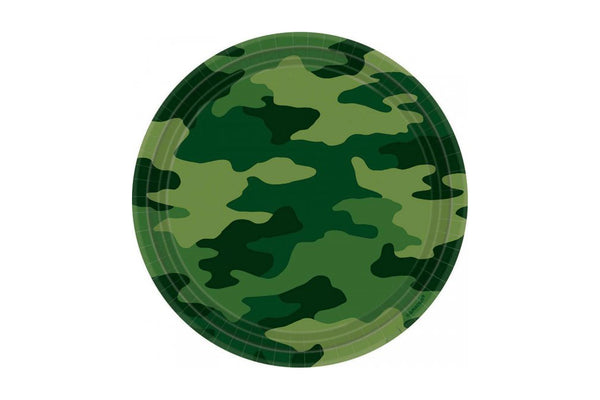 Camo Paper Plates | Pop Roc Parties