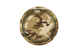 Army Camouflage Small Paper Plates | Pop Roc Parties