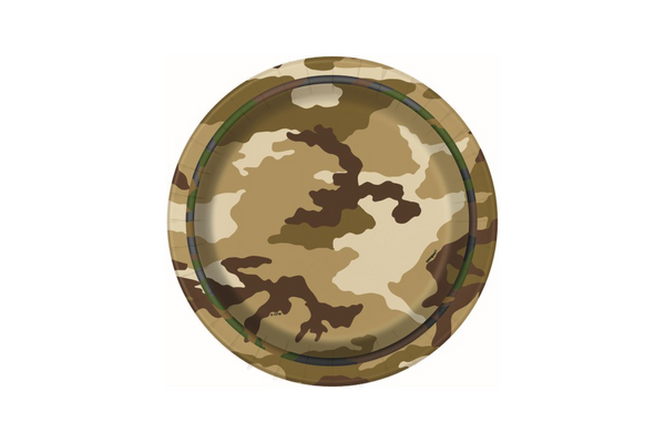 Army Camouflage Small Paper Plates - Pop Roc Parties