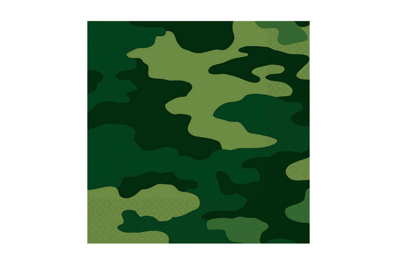 Camo Paper Napkins | Pop Roc Parties