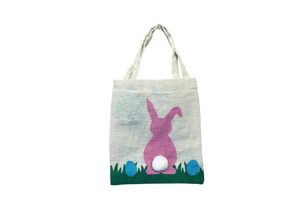 Canvas Easter Tote Bag - Pink-Pop Roc Parties