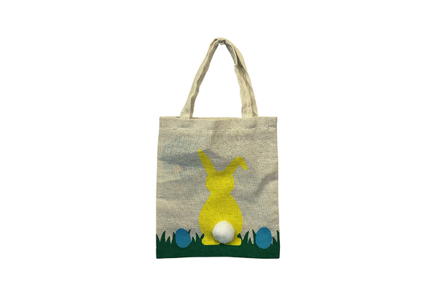 Canvas Easter Tote Bag - Yellow-Pop Roc Parties