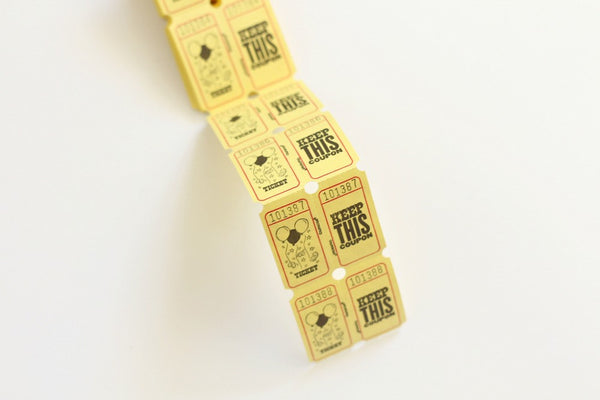 Yellow Carnival Tickets - Pop Roc Parties