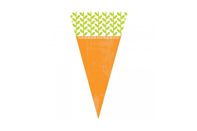 Carrot Shaped Cello Treat Bags-Pop Roc Parties