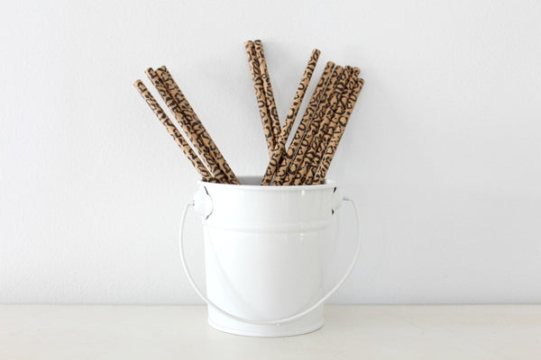 Cheetah Print Paper Straws | Pop Roc Parties
