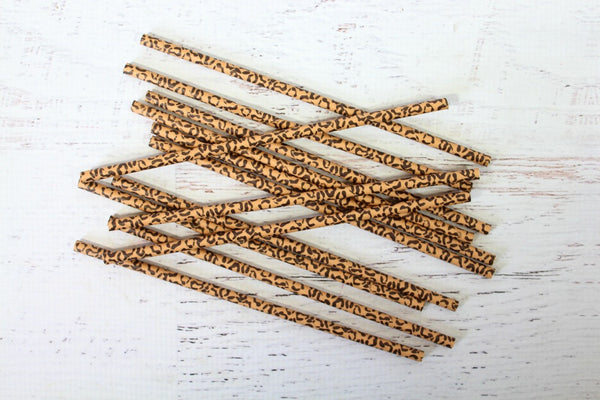 Cheetah Print Paper Straws - Pop Roc Parties