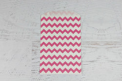 Pink Chevron Paper Bags | Pop Roc Parties