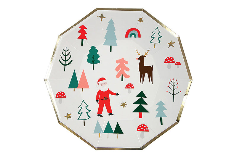 Meri Meri Christmas Plates - Pop Roc Parties