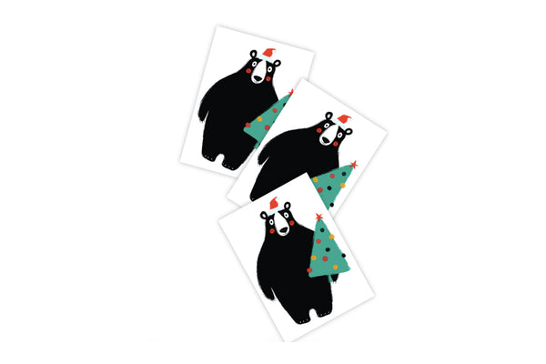 Christmas Bear Temporary Tattoos | Pop Roc Parties