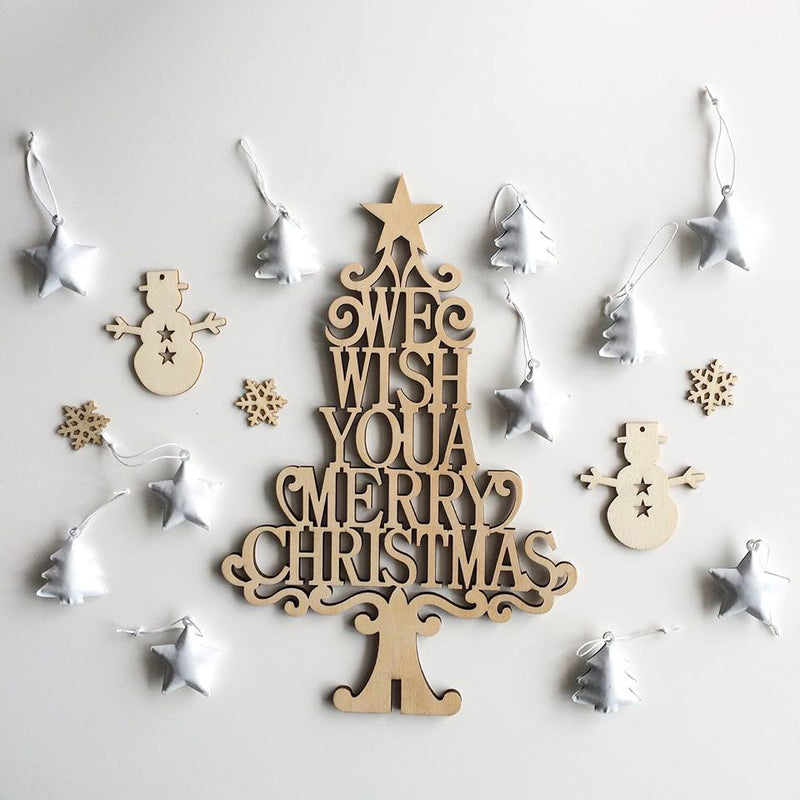 Scandi White Christmas Star Decorations - Pop Roc Parties