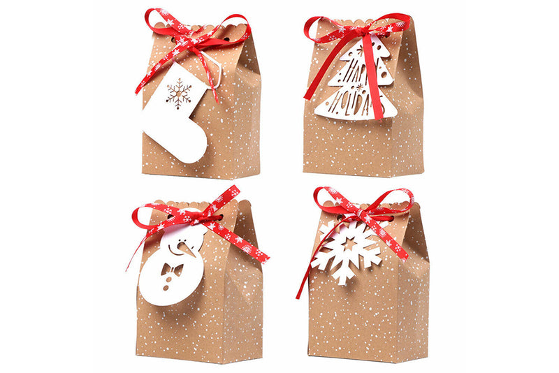 Christmas Gift Bag with Tag - Set of 4 | Pop Roc Parties