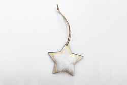 Christmas Star Decoration with Fur | Pop Roc Parties