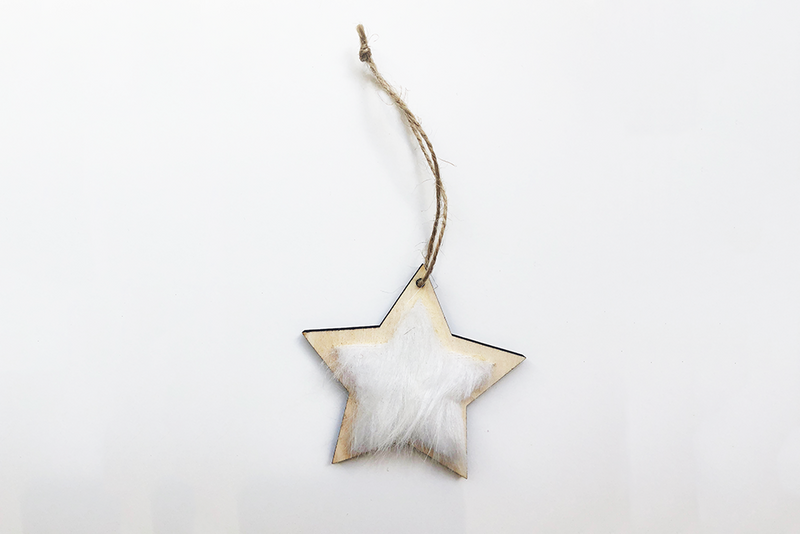 Christmas Star Decoration with Fur - Pop Roc Parties