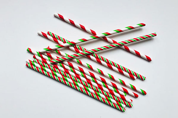 Christmas Stripe Straw Mix | Pop Roc Parties