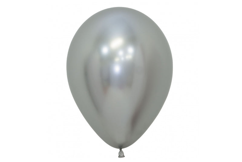 Mini Chrome Silver Balloon - 12cm-Pop Roc Parties