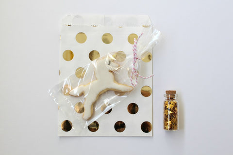 Gold Foil Polka Dot Favor Bags