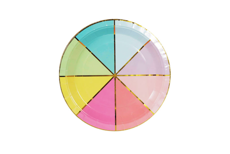 Colour Wheel Plates | Pop Roc Parties