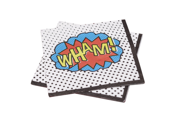 Comic Superhero Napkins - Pop Roc Parties