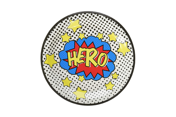 Comic Superhero Plates - Pop Roc Parties