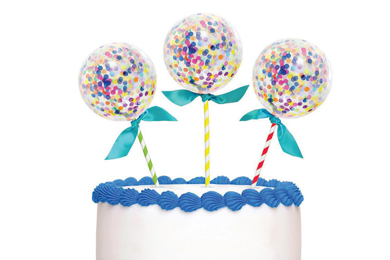 Confetti Balloon Cake Toppers | Pop Roc Parties