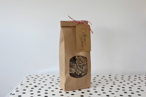Kraft Window Tin Tie Favor Bags