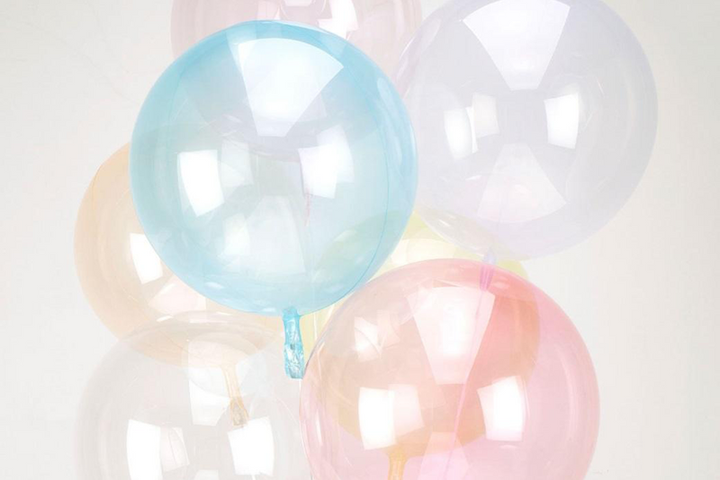 Crystal Clearz Balloon - Blue | Pop Roc Parties