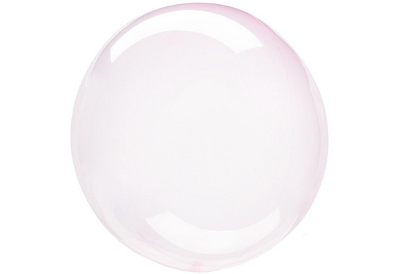 Crystal Clearz Balloon - Light Pink | Pop Roc Parties
