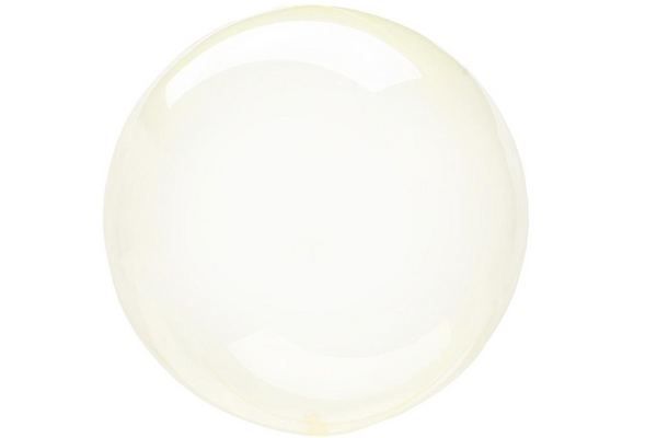 Crystal Clearz Balloon - Yellow | Pop Roc Parties