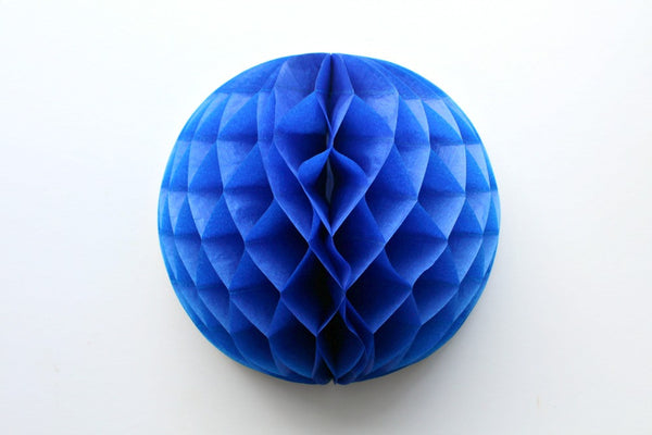 Royal Blue Tissue Honeycomb Balls - Pop Roc Parties