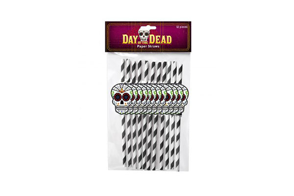 Day of the Dead Paper Straws-Pop Roc Parties