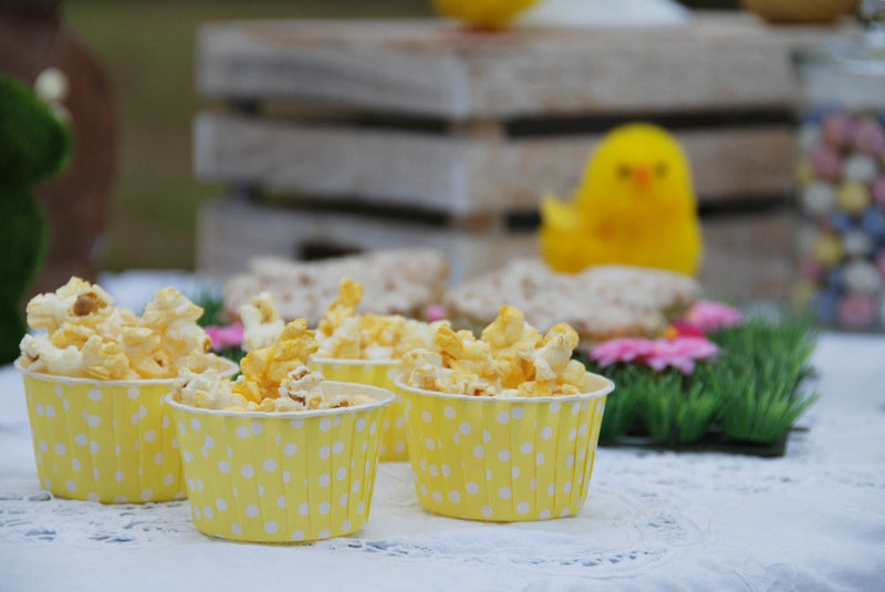 Yellow Polka Dot Cupcake Cups | Pop Roc Parties