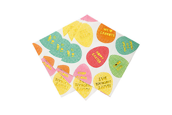 Hop to It Easter Egg Napkins - Pop Roc Parties
