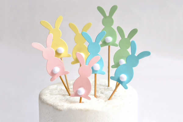 Bunny Tail Cake Toppers | Pop Roc Parties