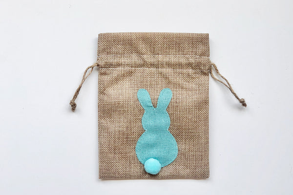 Easter Bunny Drawstring Bags - Blue | Pop Roc Parties